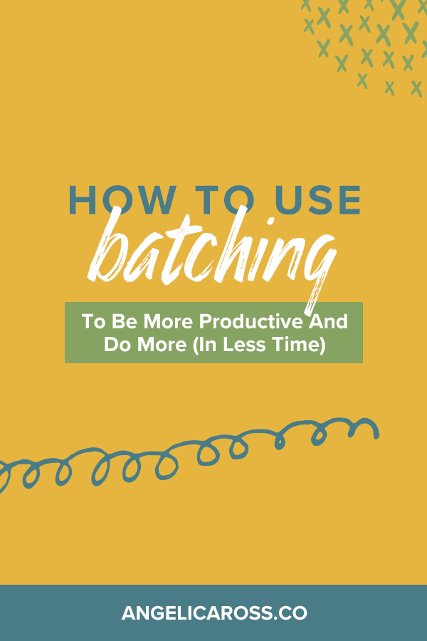 Batching is a productivity technique to help you do more in less time. Here are simple batching tips that will boost your productivity in writing + more.