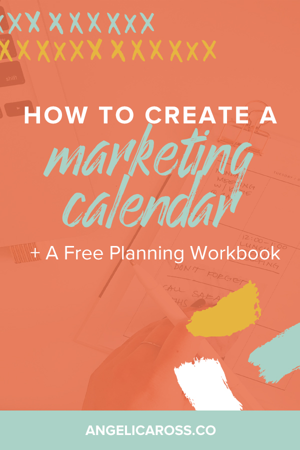 A marketing calendar is a bird's eye view so you don't feel like a tiny worm trying to tackle a year's worth of content and getting completely buried.